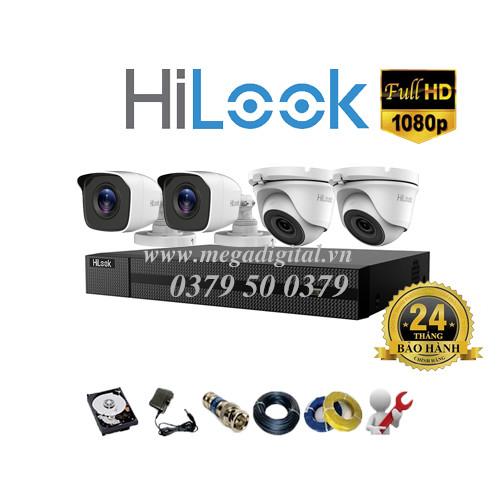 Trọn bộ 4 camera Hilook HD1080P