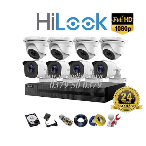 Trọn bộ 8 camera Hilook HD1080P