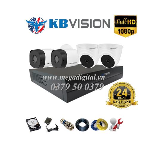 Trọn bộ 4 camera KBVISION HD1080P