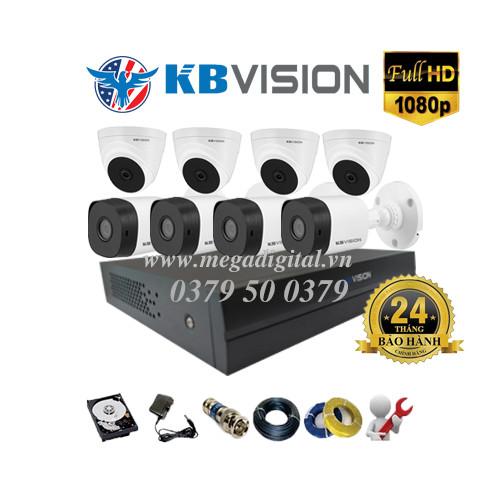 Trọn bộ 8 camera KBVISION HD1080P