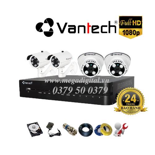 Trọn bộ 4 camera Vantech HD1080P