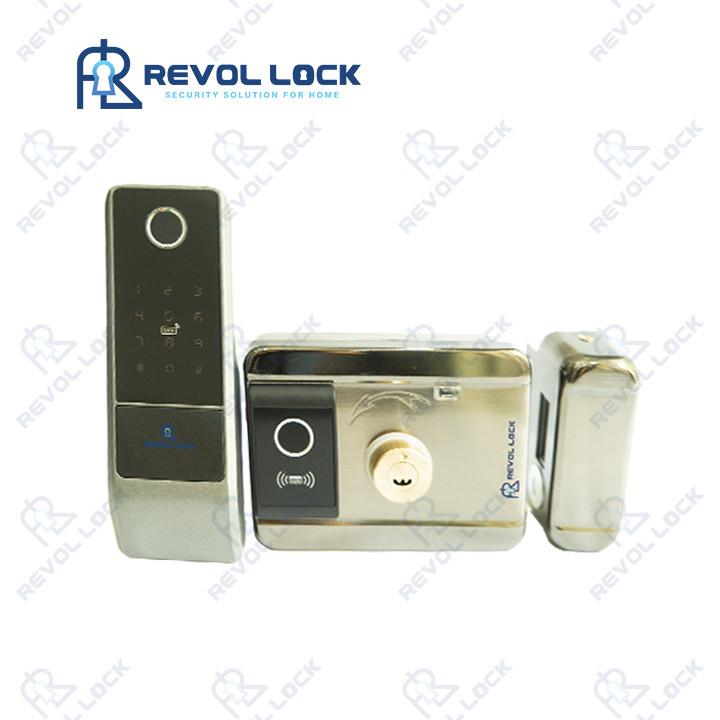 Khóa cổng vân tay hai chiều dùng pin RV-C24B