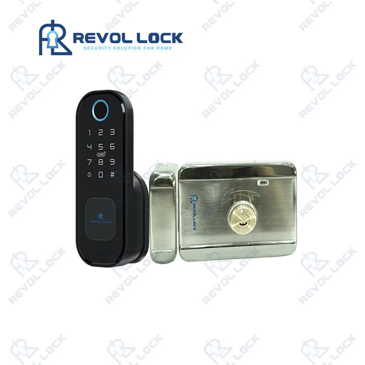 Khóa cổng vân tay một chiều dùng pin RV-C21B